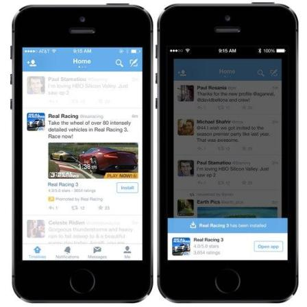 app twitter promotion
