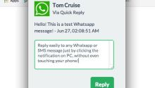 Quick Reply WhatsApp