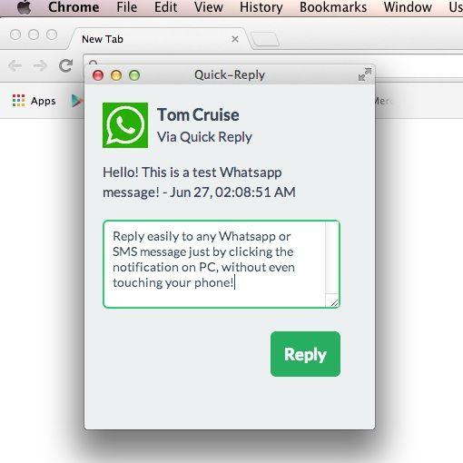 Quick Reply WhatsApp