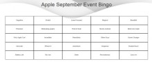 apple september event bingo
