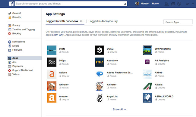 fb AppSettings