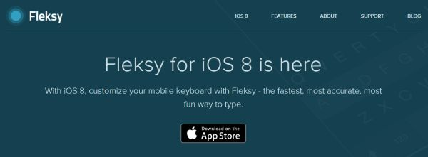Fleksy keyboard for iOS 8